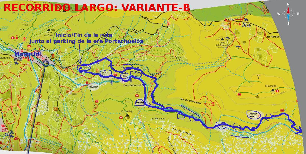 Los Cahorros Monachil Mapa.Ficha Tecnica Los Cahorros De Monachil Granada Astoll Asociacion De Senderismo Tomillo Y Oregano De Llerena